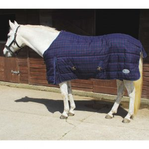 Rhinegold Orlando Stable Quilt Navy Red