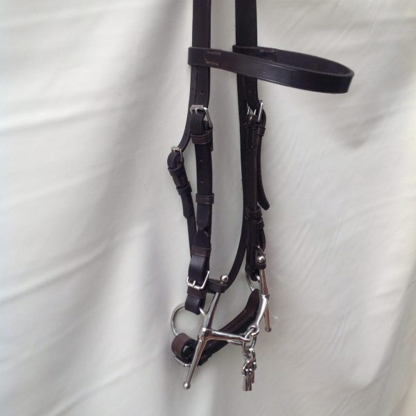 Breaking bridle, leather,