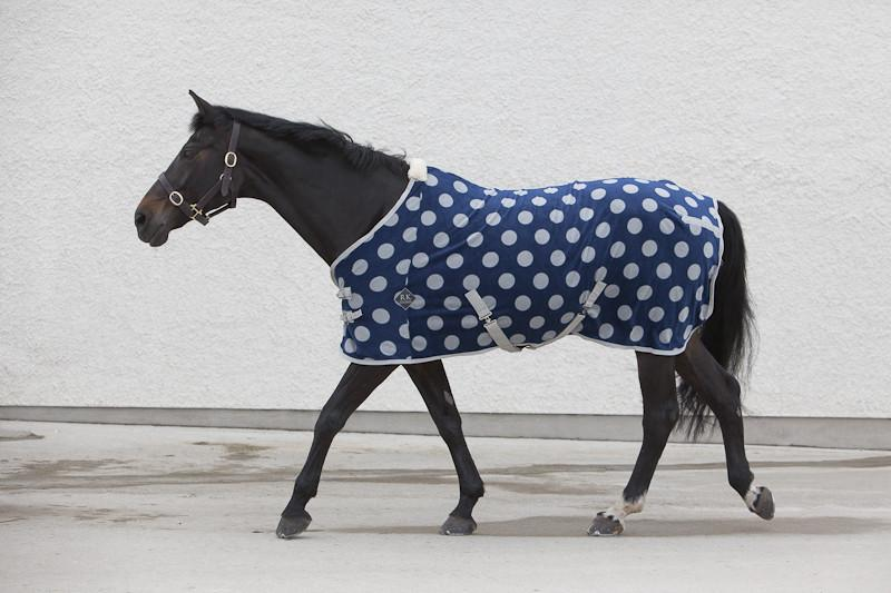 fleece, luxury, horsewear, luxury blue spotted fleece sheet, fleece sheets, spotty blue fleece