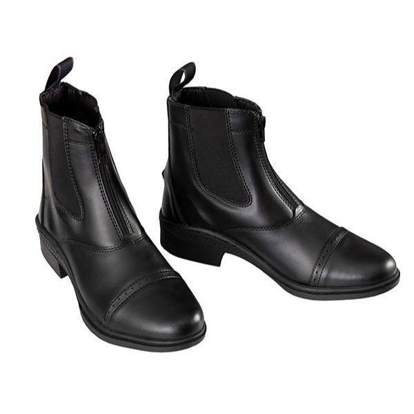 paddock boot, smart, ankle boot, jodphur boot, leather paddock boot, front zip, paddock boot with front zip, real leather