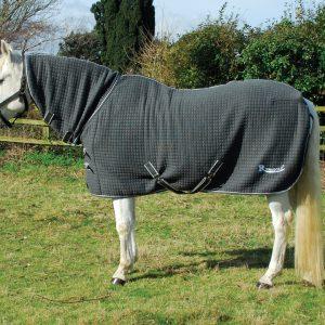 rhinegold, full neck, cooler, celltex rug, indoor, stable rug,