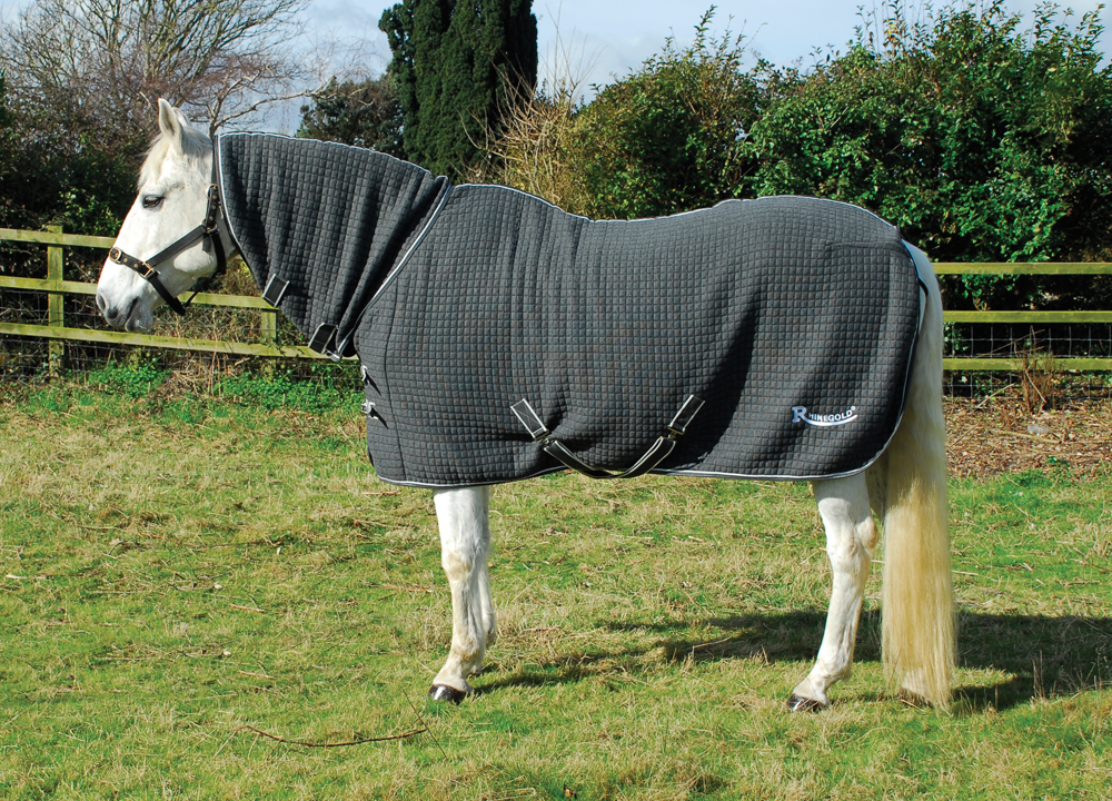 rhinegold, full neck, cooler, celltex rug, indoor, stable rug,