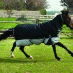 rhinegold, black/grey, quality horse rug, heavyweight rug, waterproof,
