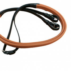 exercise reins, orange grip, 3/4inch, exercise reins, horse racing,
