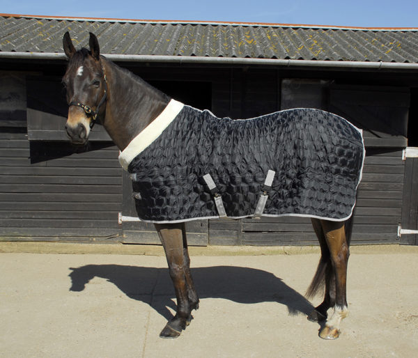 black stable quilt